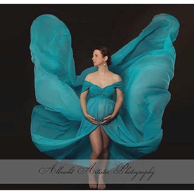 Emma chiffon maternity gown