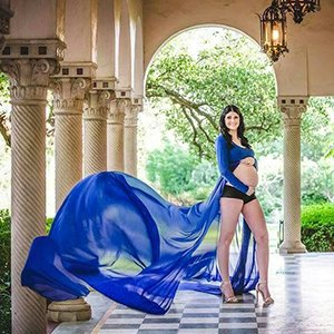 Emily Chiffon Maternity Gown