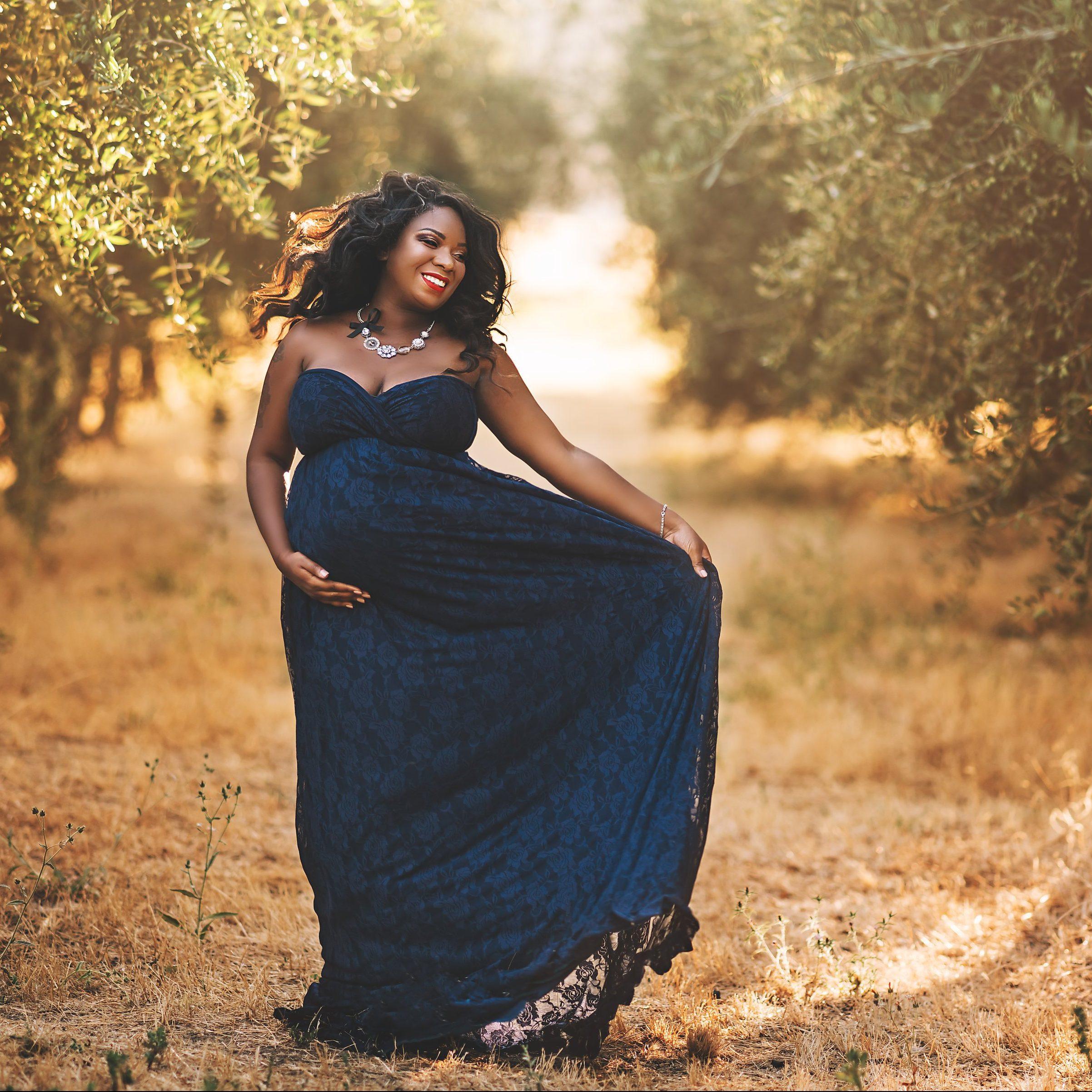 Allyson Lace Maxi Style Maternity Dress