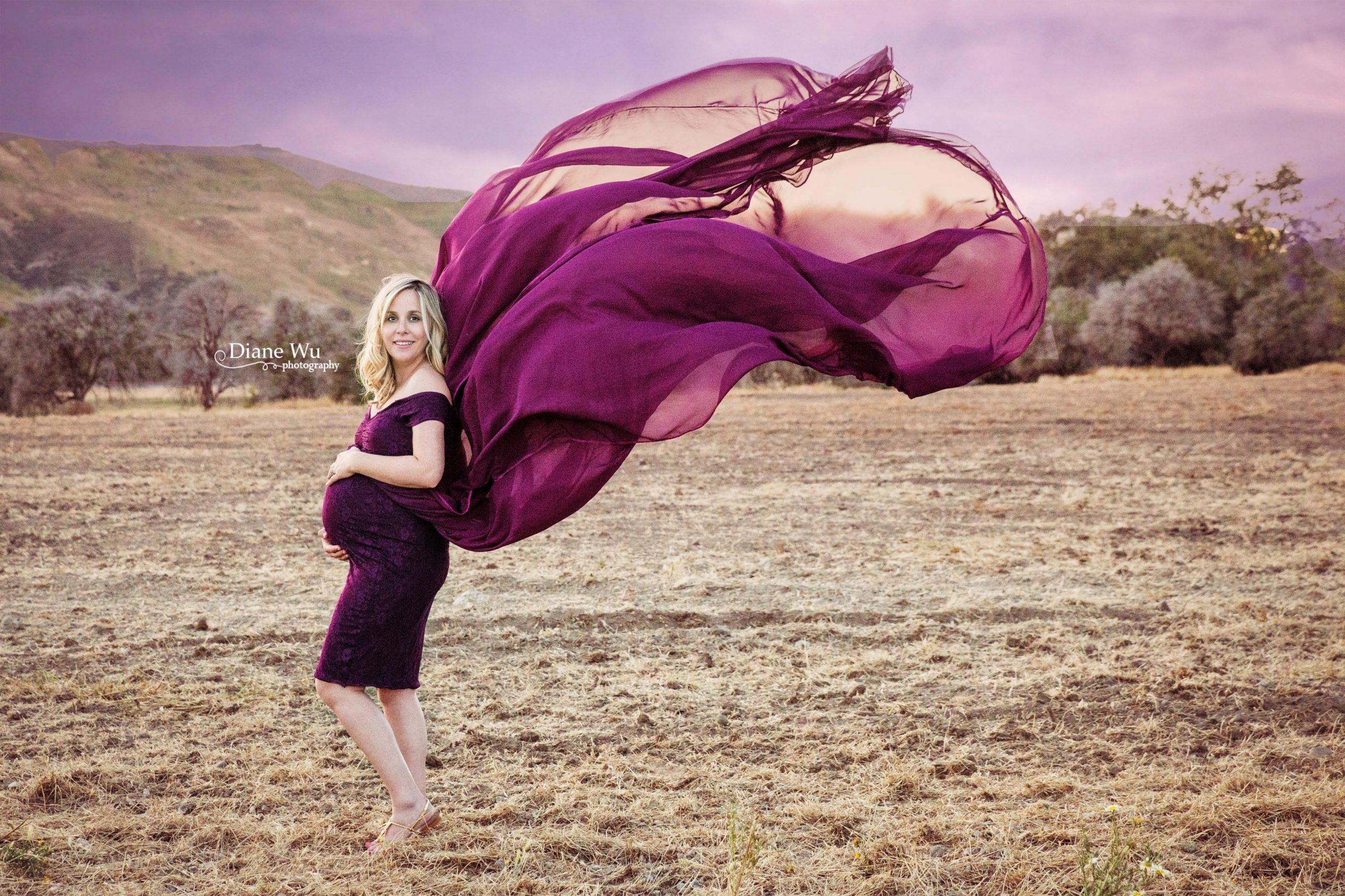 Evelyn Chiffon Maternity Gown