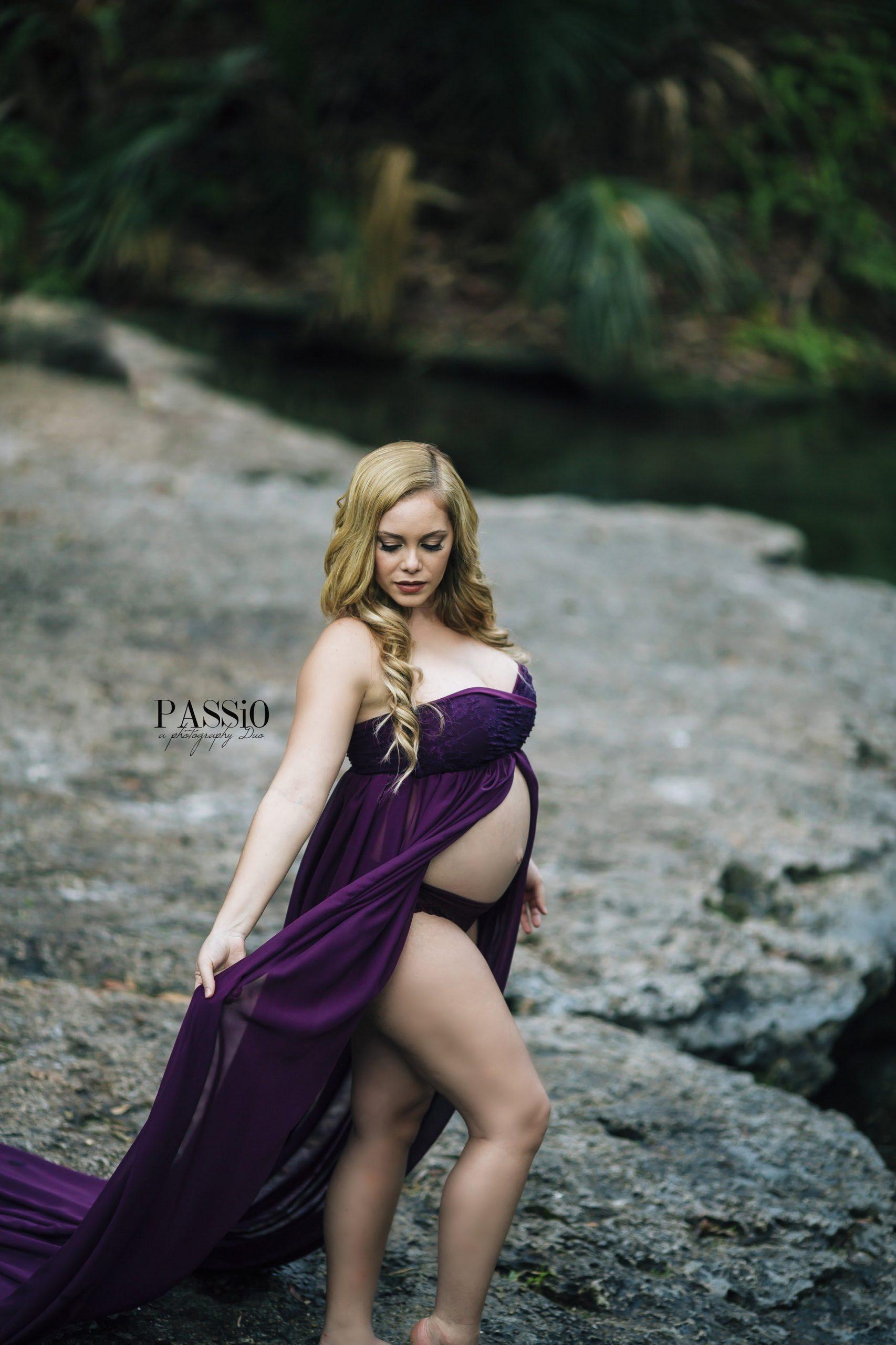 Marie Chiffon Maternity Gown
