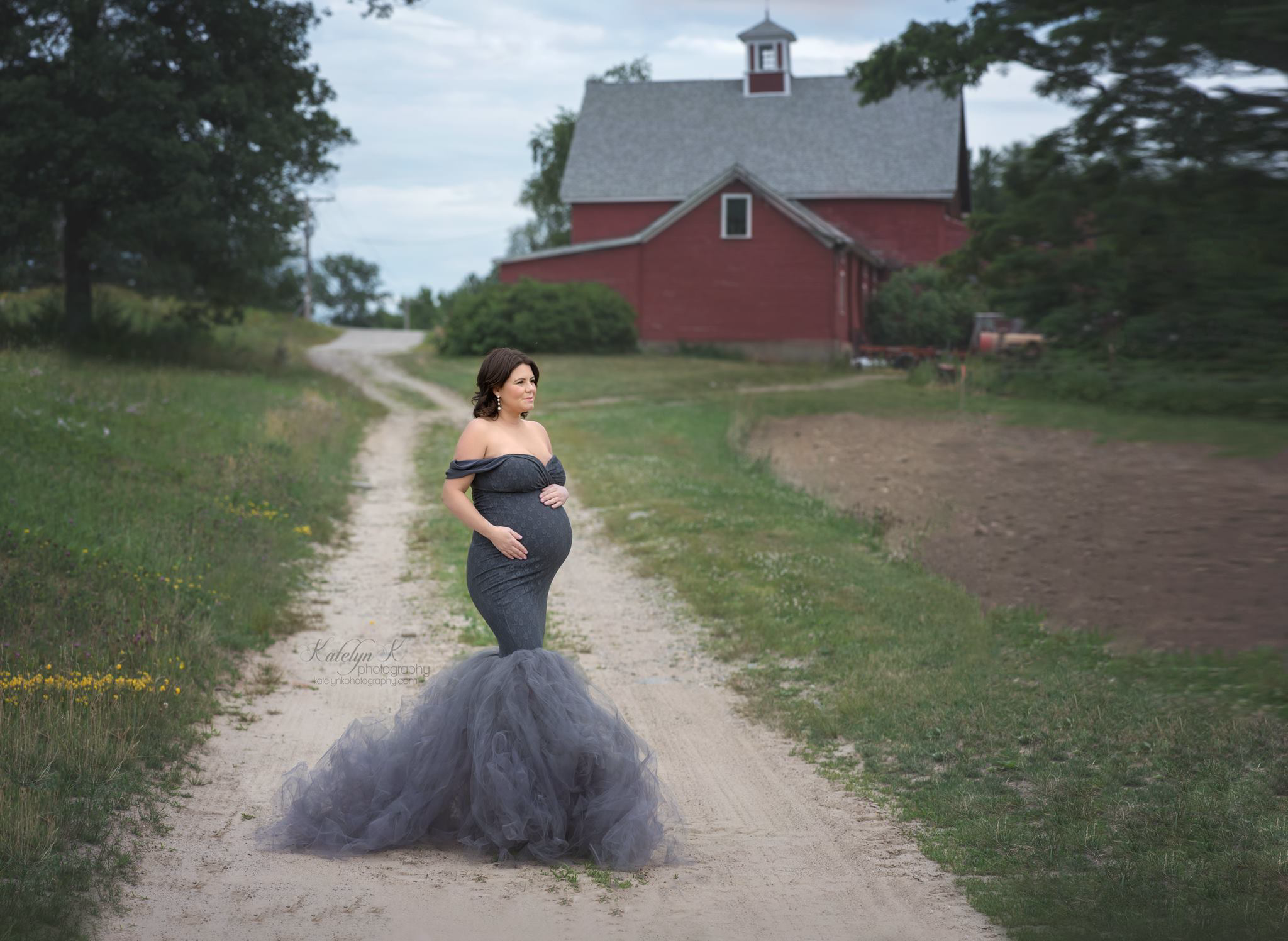Charlotte tulle maternity gown, Miss Madison Boutique
