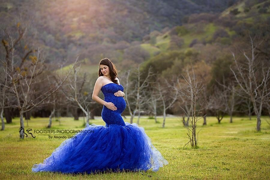 Charlotte Tulle Maternity Gown for Photography