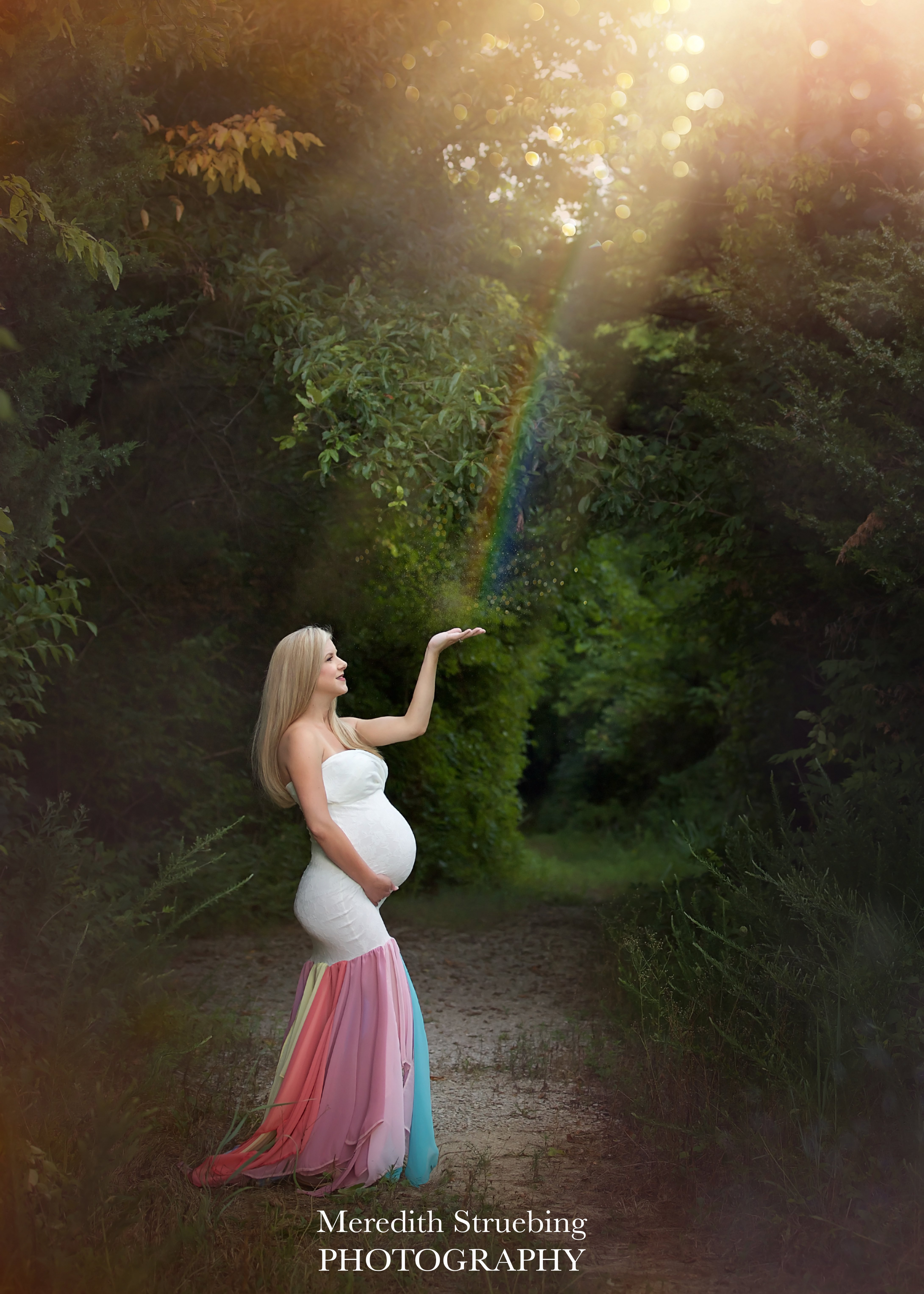 Jeri Rainbow Mermaid Maternity Gown Miss Madison