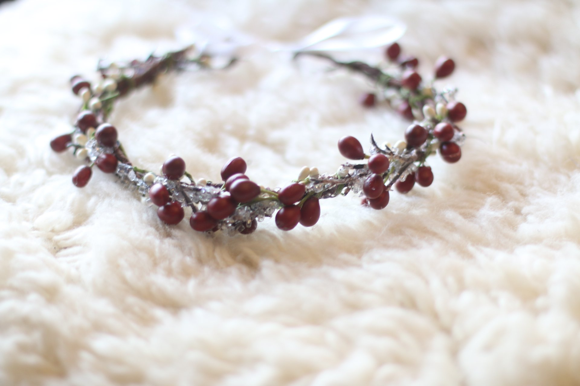holiday winter flower crown