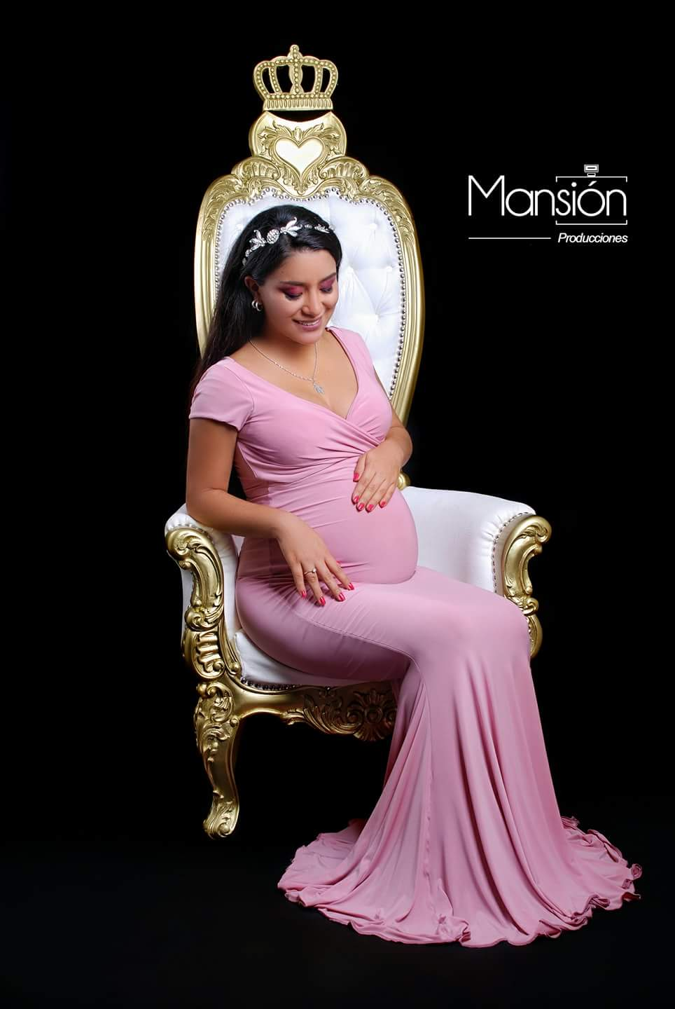 Adeline Fitted Maternity Gown Designer Maternity Gowns