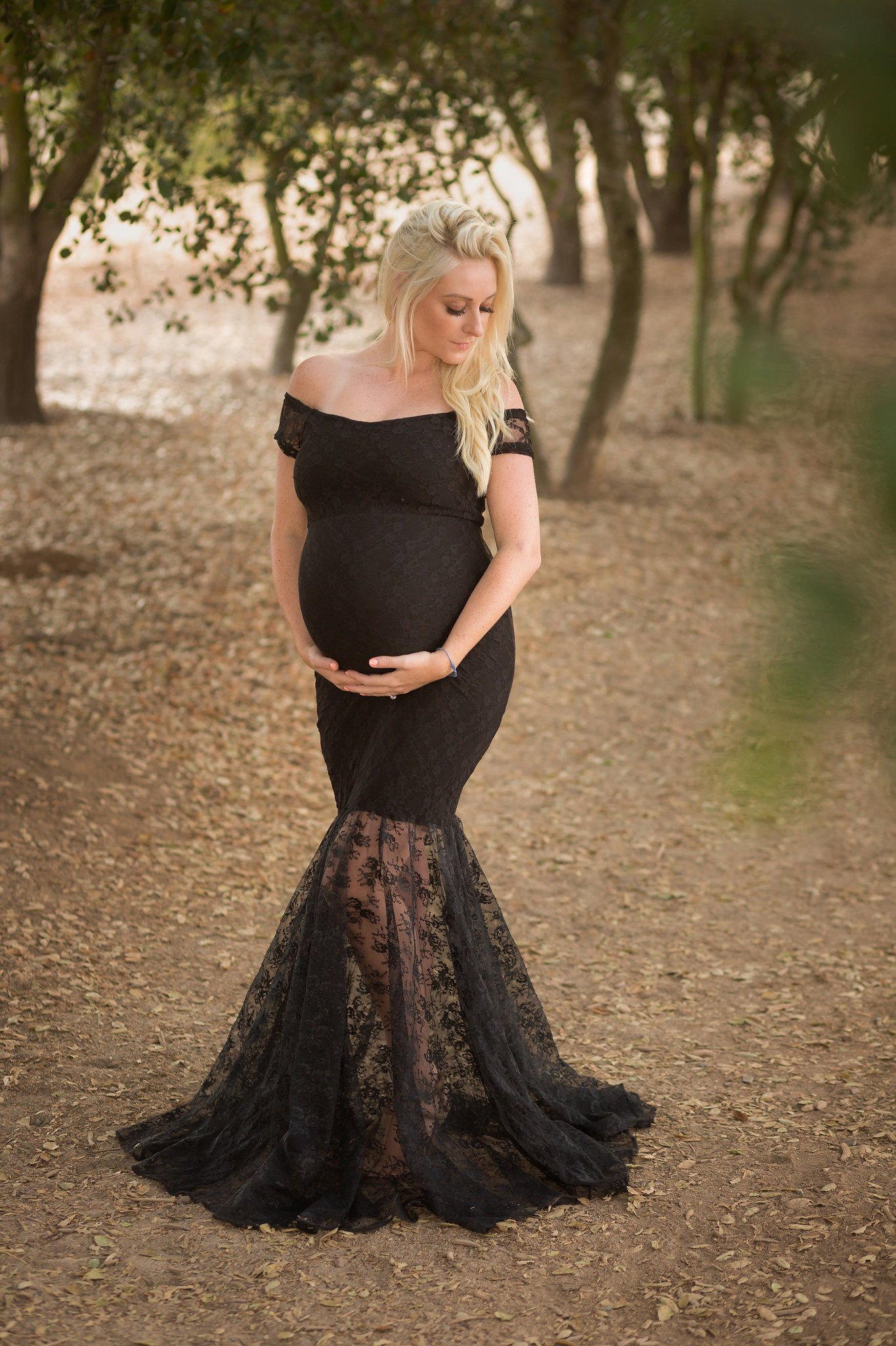 Harlow lace maternity gown, Miss Madison Boutique