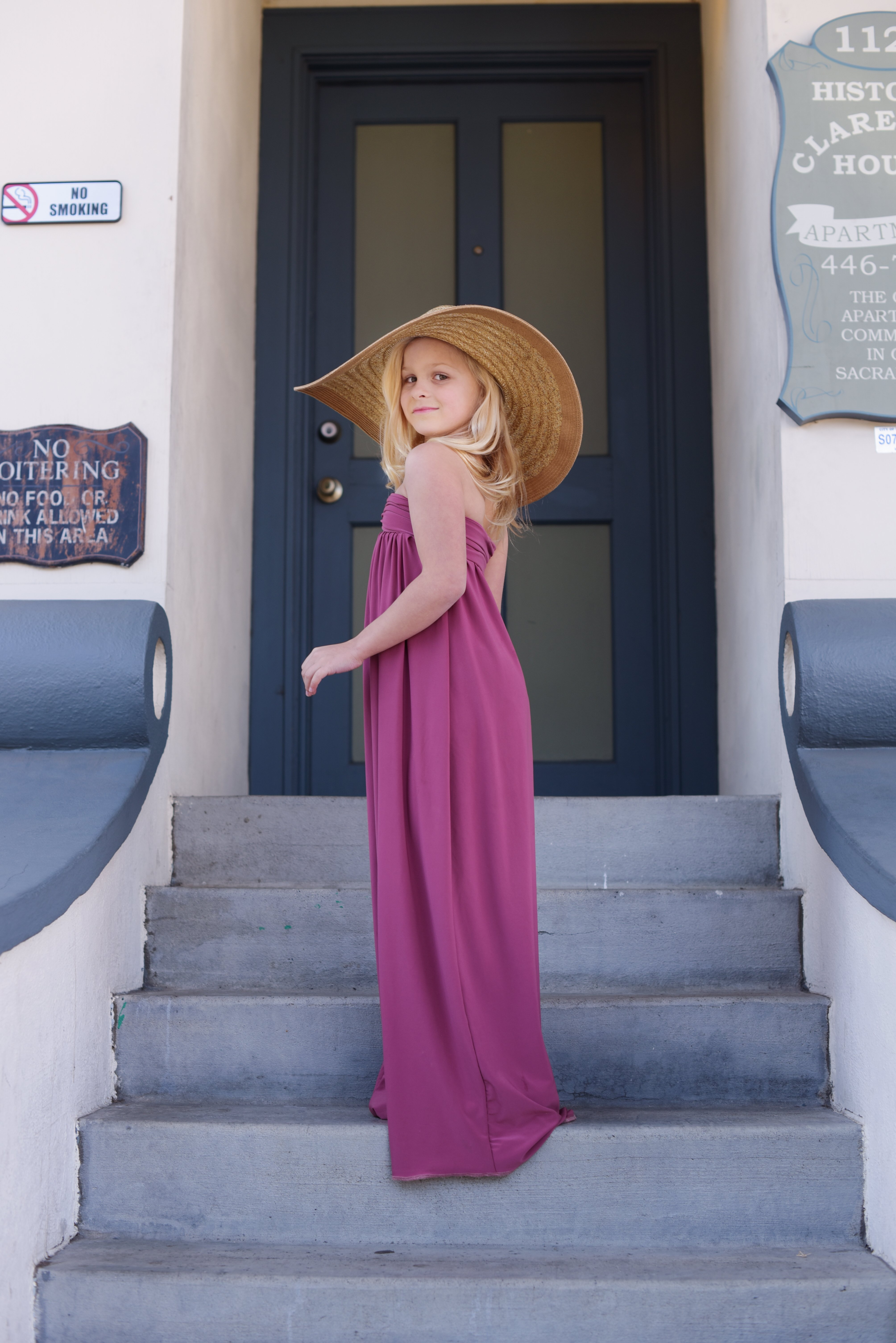 Cari girls maxi dress