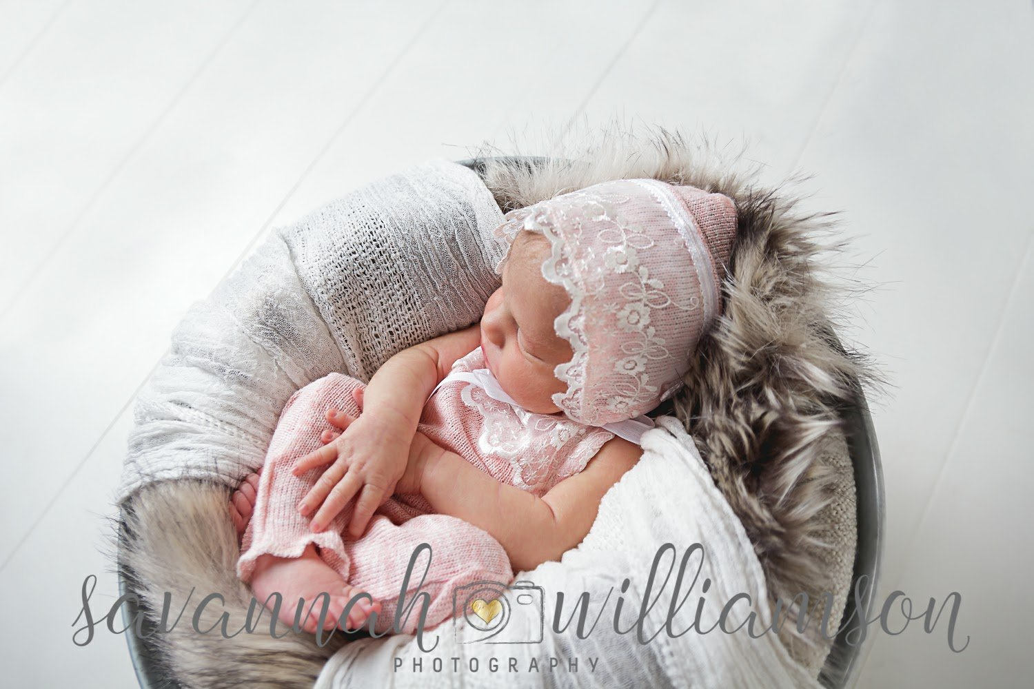 Lilly Newborn Romper and Bonnet