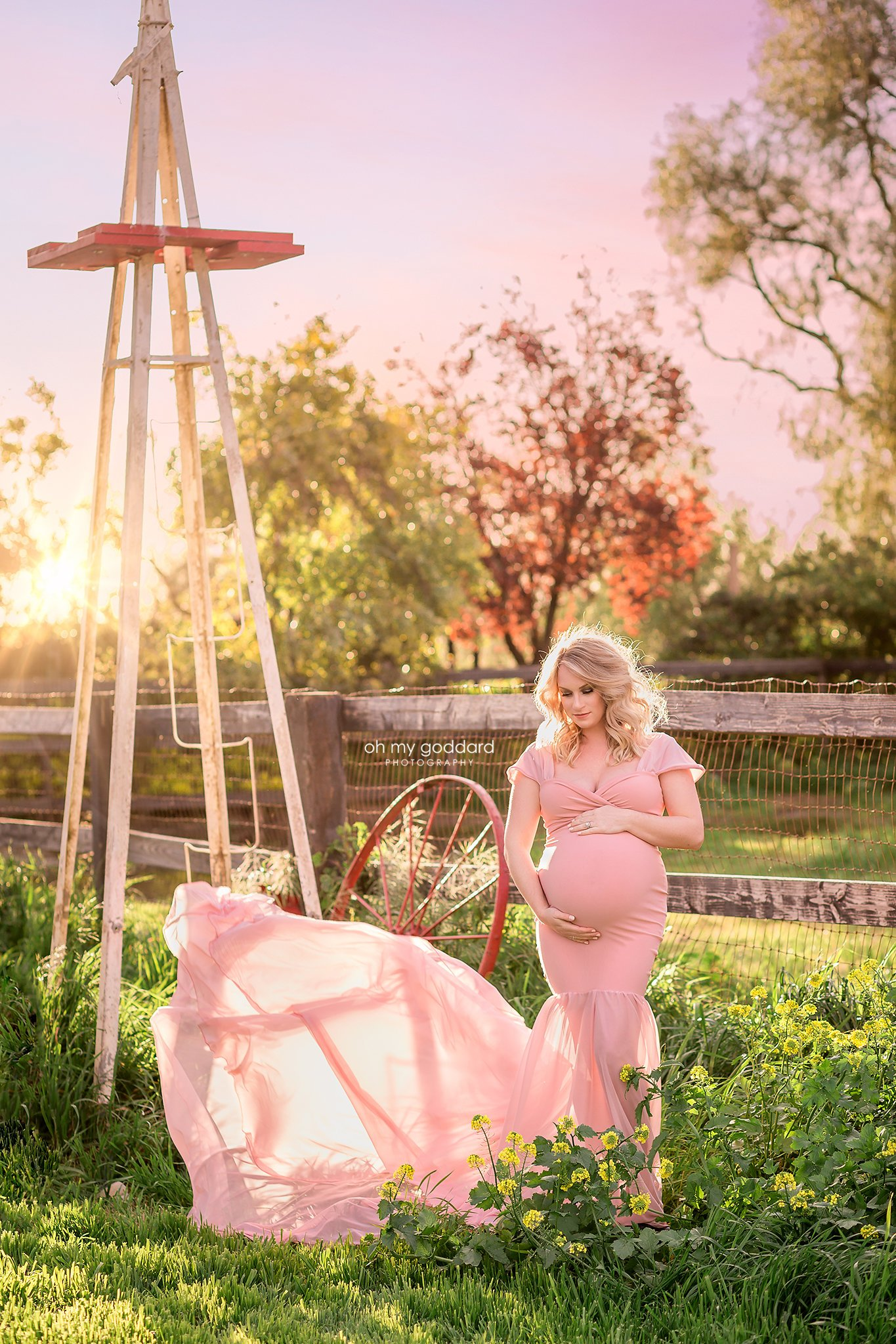 Evie Maternity gown photoshoot