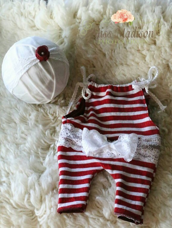 Arwen newborn girl holiday elf romper and headband