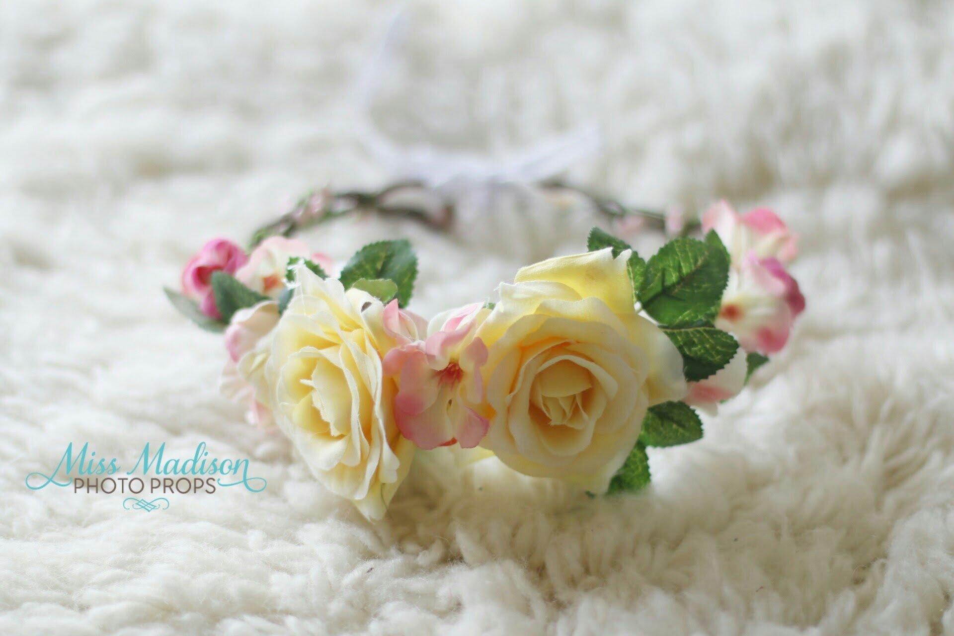 Flower crown headwreath