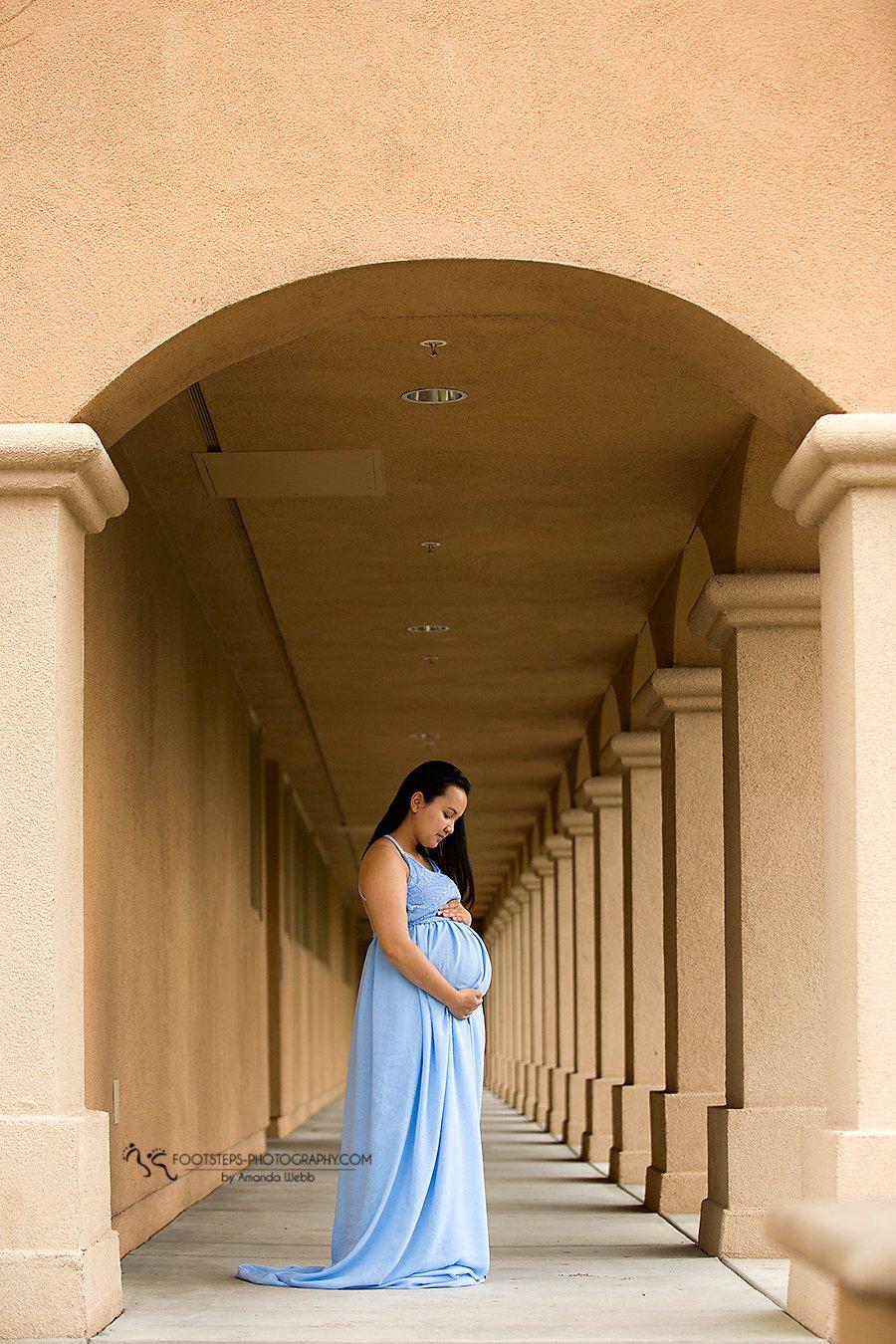 Rayne chiffon Maternity gown