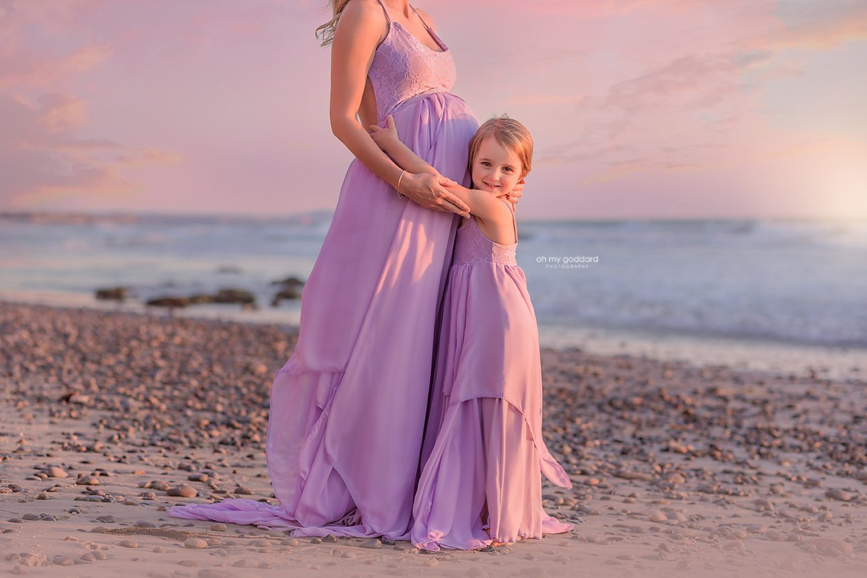 Braelyn maternity gown photography Gabrielle girls princess dress