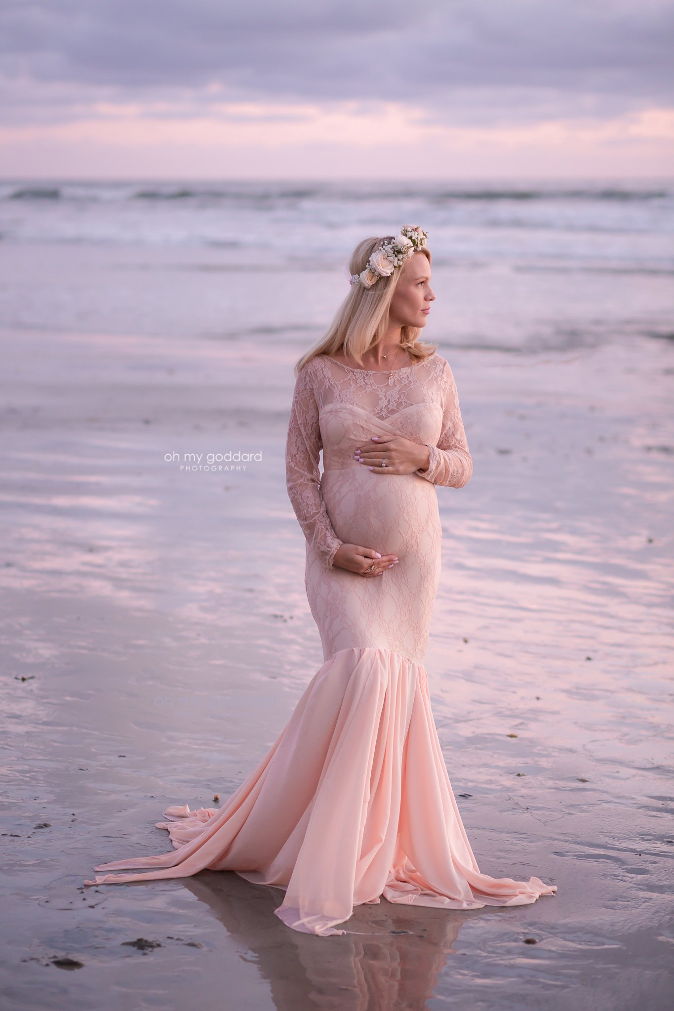 Piper Lace Maternity Gown Photoshoot