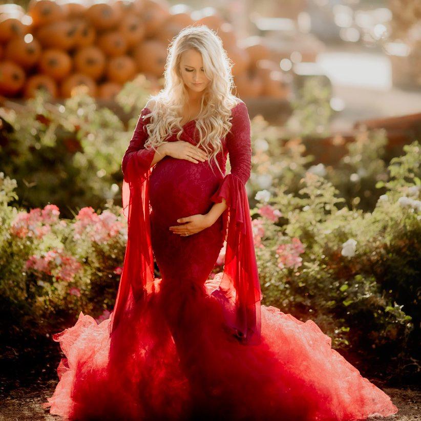 Clara tulle mermaid maternity dress