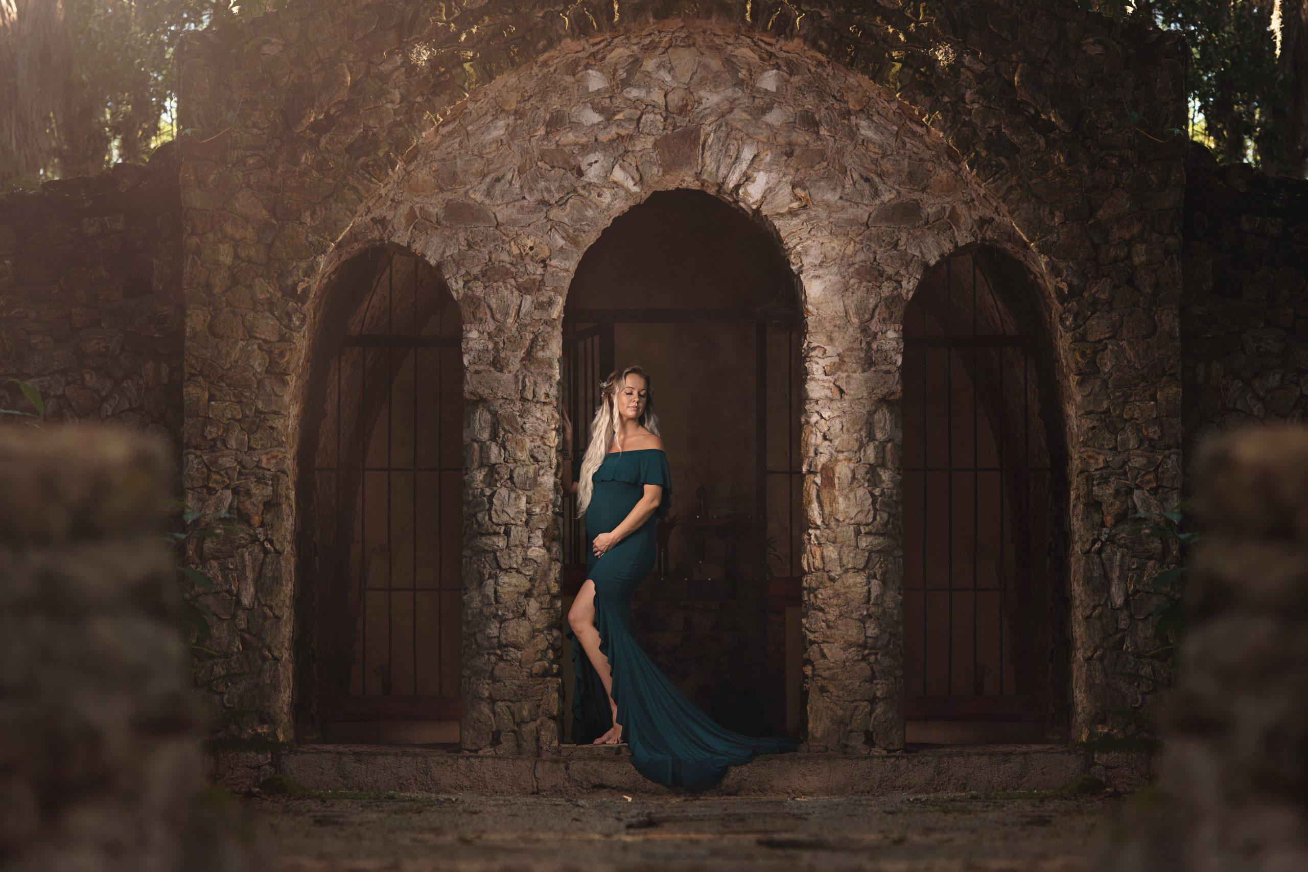 Colette elegant maternity gown
