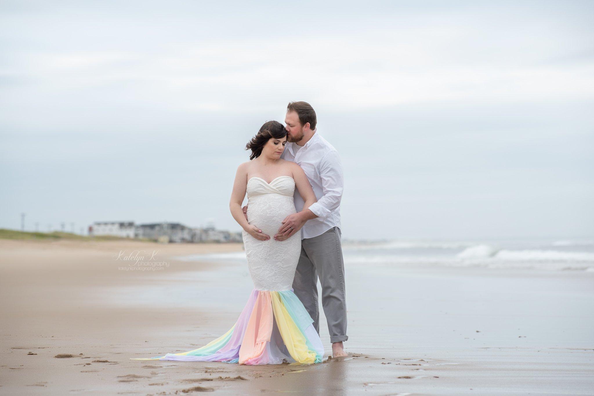 Jeri Rainbow Mermaid Maternity Gown