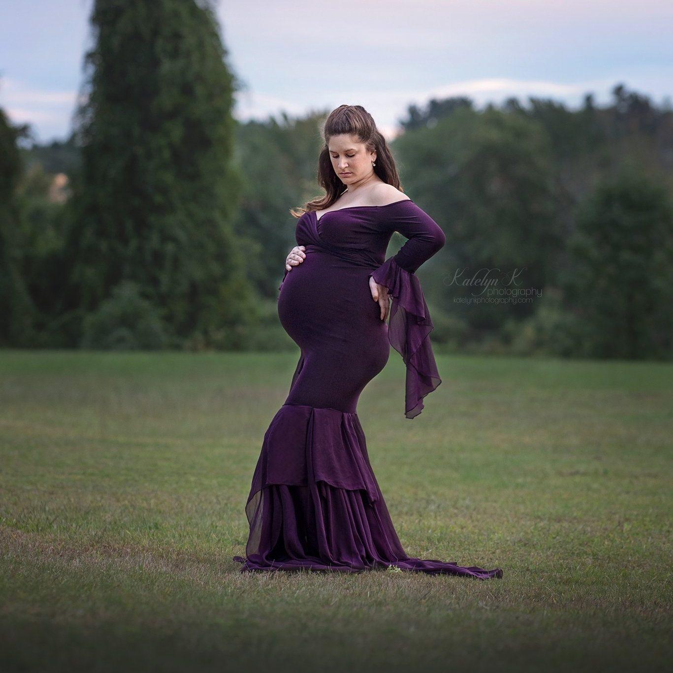 Brandy Chiffon Mermaid Maternity Dress