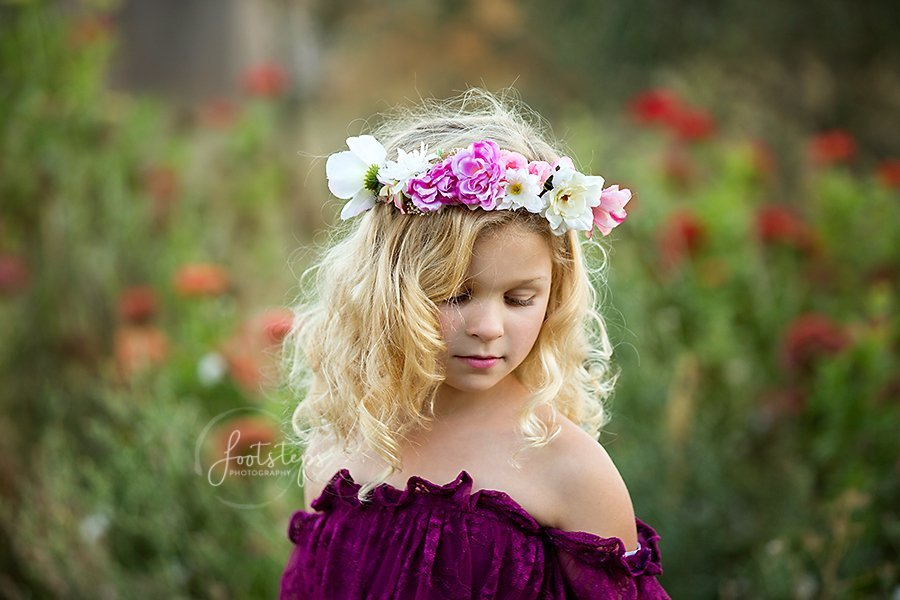 Pink Ladies Flower crown for girls