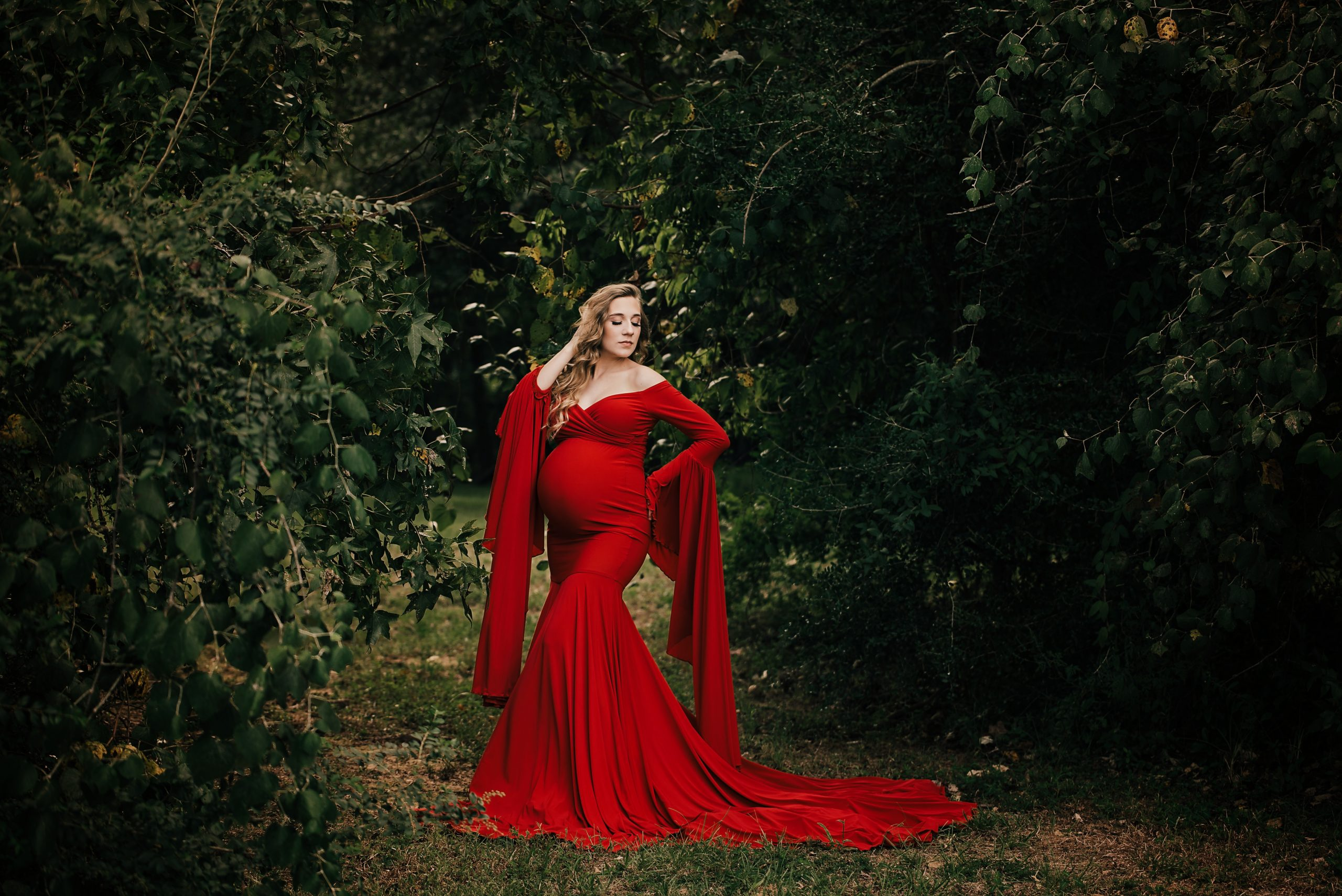 Christy maternity gown for photoshoot Miss Madison Couture