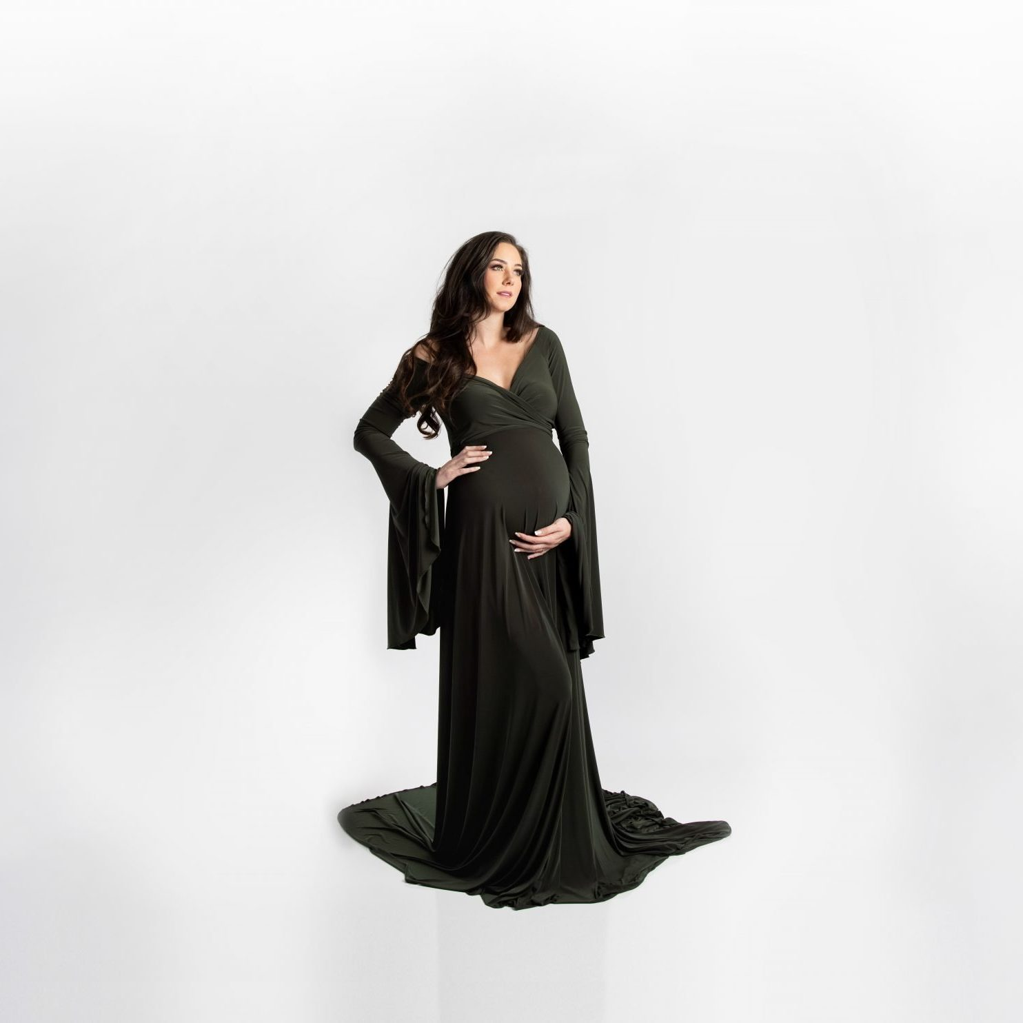 Fabienne maternity gown Miss Madison Couture