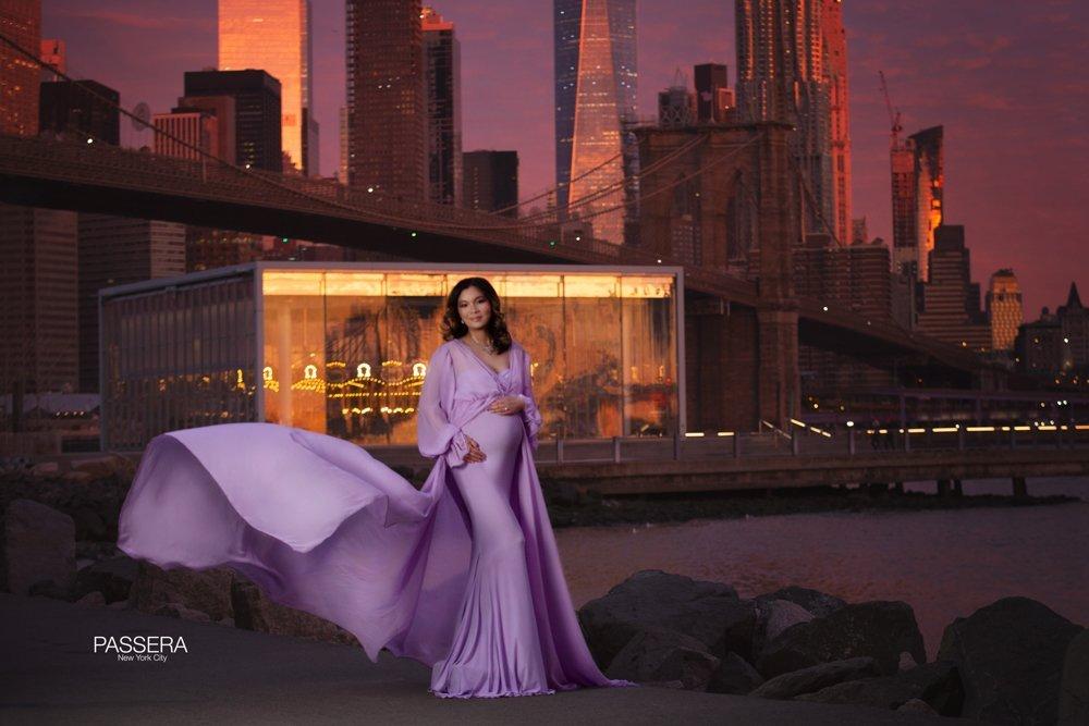 Chandra Chiffon Maternity Robe, Miss Madison Boutique