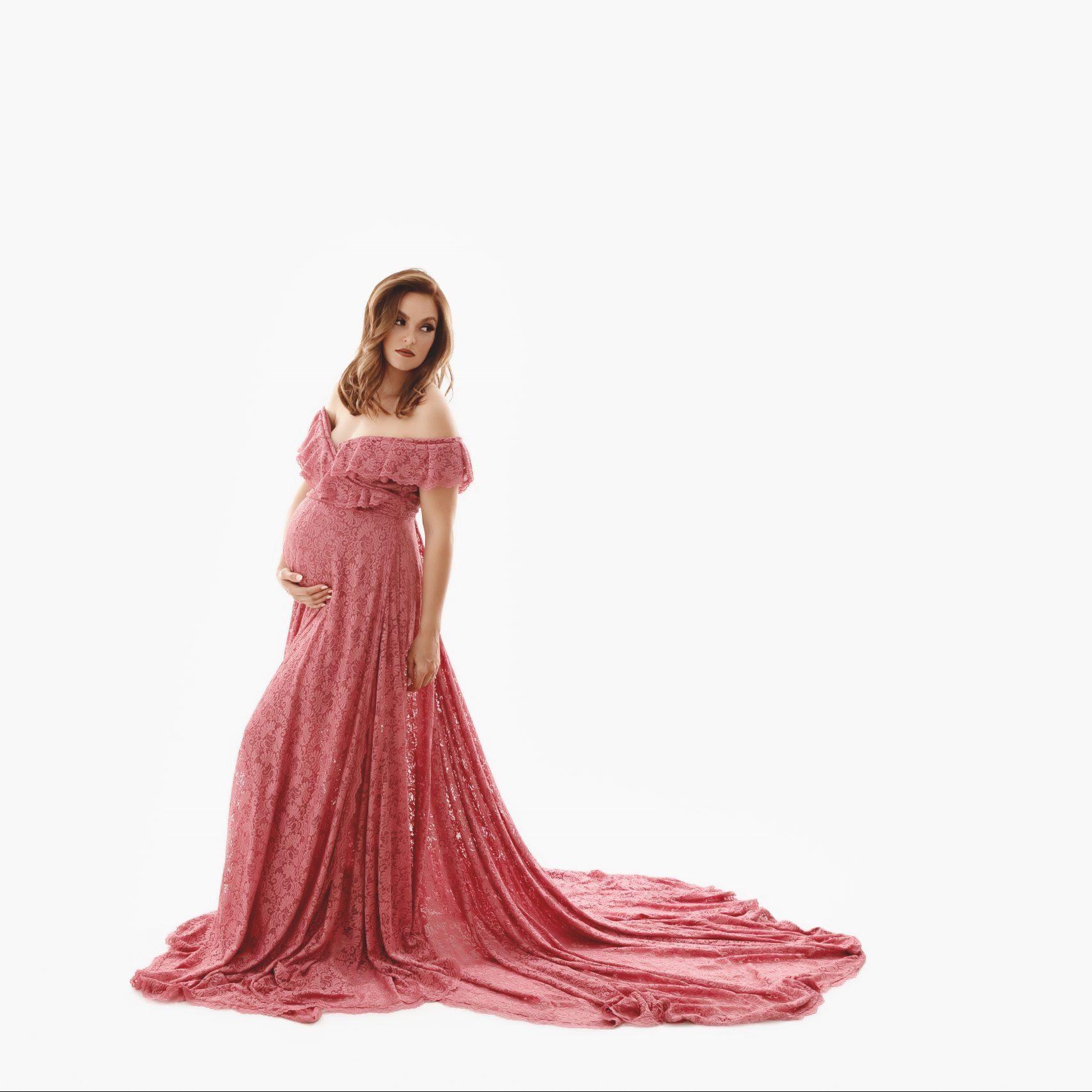 Antoinette Lace Maternity Gown, Miss Madison Boutique