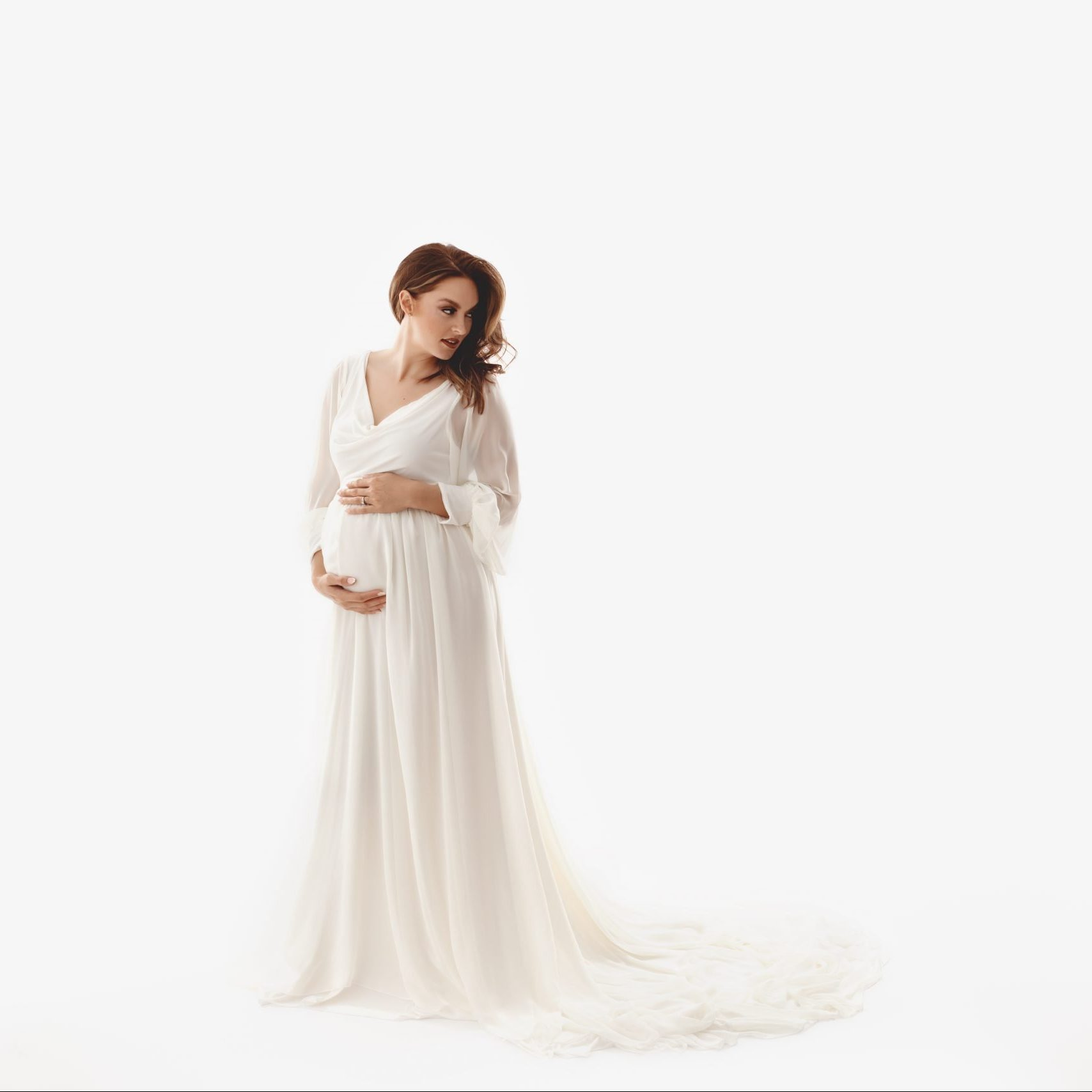 Ember Chiffon Maternity Gown, Miss Madison Boutique