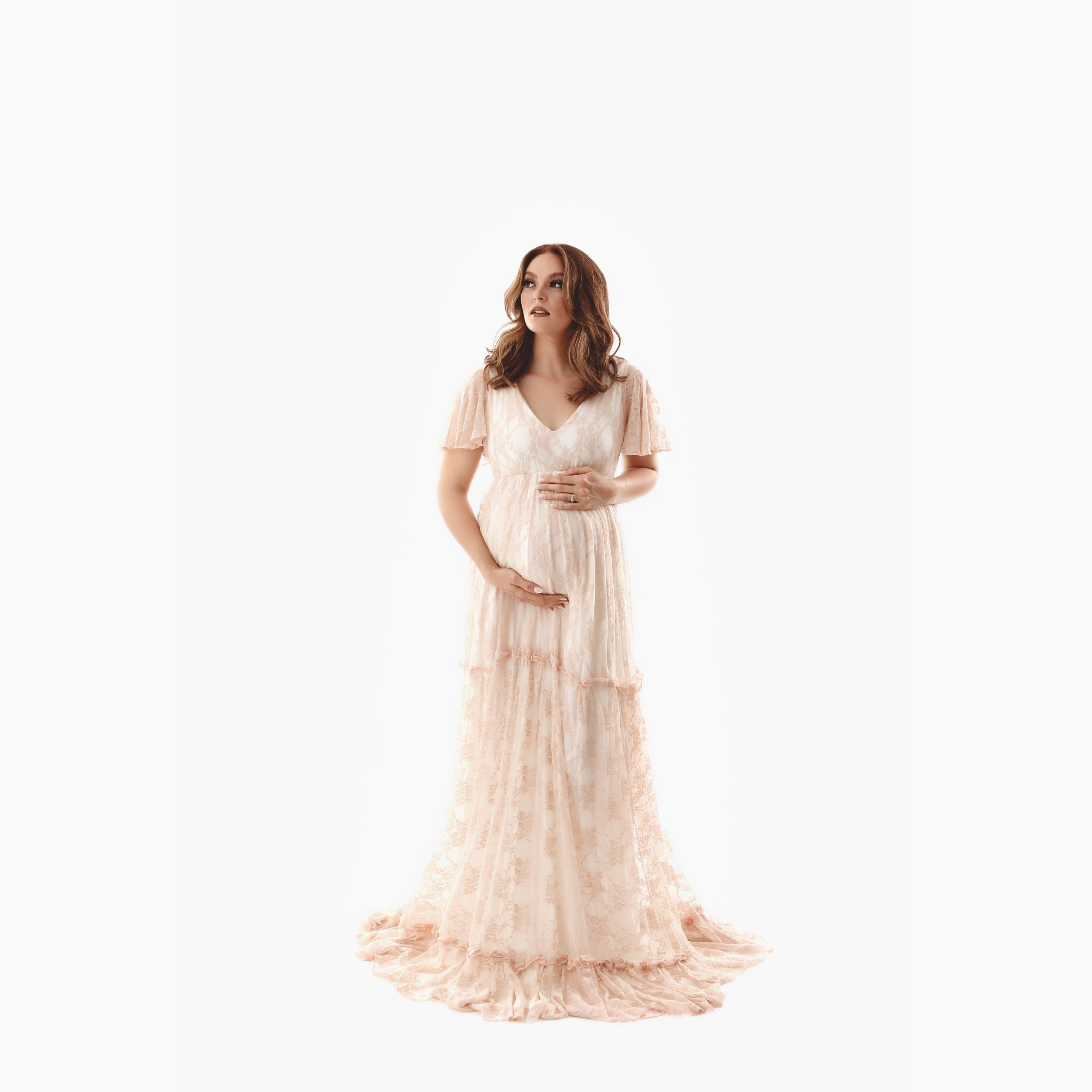 Fay Boho Maternity Gown, Miss Madison Boutique